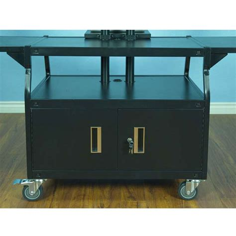 80 inch storage cabinet vti audio cart with 80 inch tv mount and locking