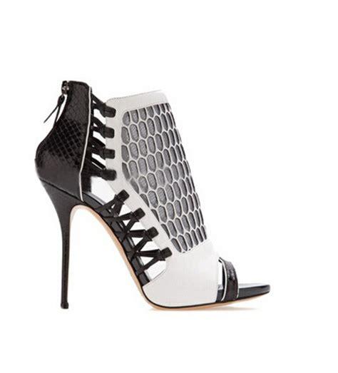 Sepatu Boots Heels Wanita Cewek Hitam Sbo99 Favos Store aliexpress beli ukuran besar kulit hitam kandang putih booties sepatu musim panas wanita