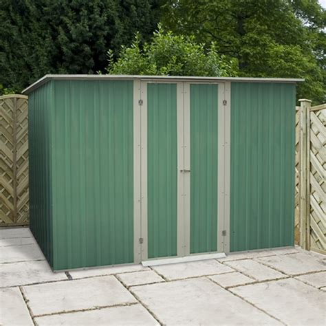Metal Shed 10 X 6 by 10 X 6 Waltons Pent Metal Shed