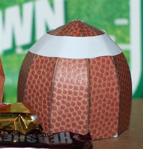 How To Make A 3d Football Out Of Paper - paper creations by kristin 3d football