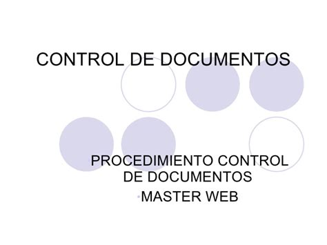control de documentos control de documentos