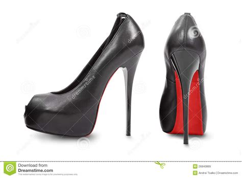 high hill shoes pair of high heel shoes royalty free stock images image