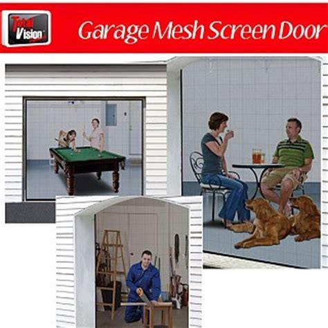 Garage Door Mesh Screen Instant Garage Screen Door Let Fresh Air In Keep Insects Out Ships Free 13 Deals