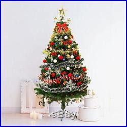 pre lit tree with decorations 6ft pre lit artificial indoor led lights tree