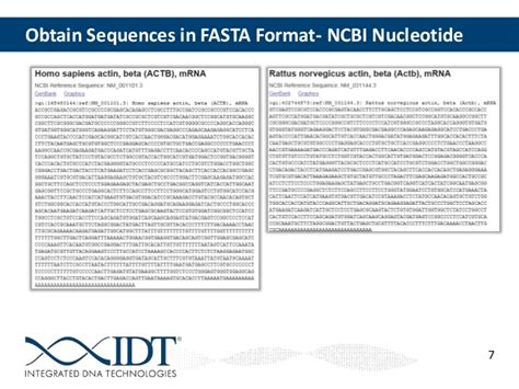 fasta format converter ncbi qpcr design strategies for specific applications