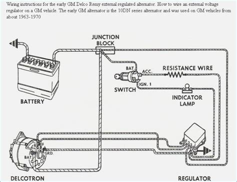 alternator external regulator wiring diagram wiring