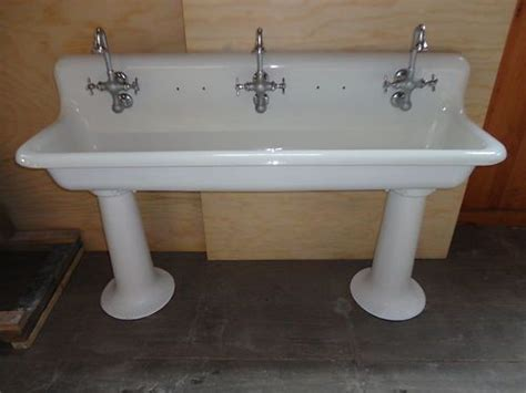 vintage trough sink bathroom vintage cast iron farm farmhouse pedestal trough sink