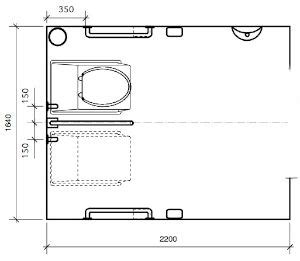 disabled toilet layout plan natsol compost toilet plans and sketchup model to download