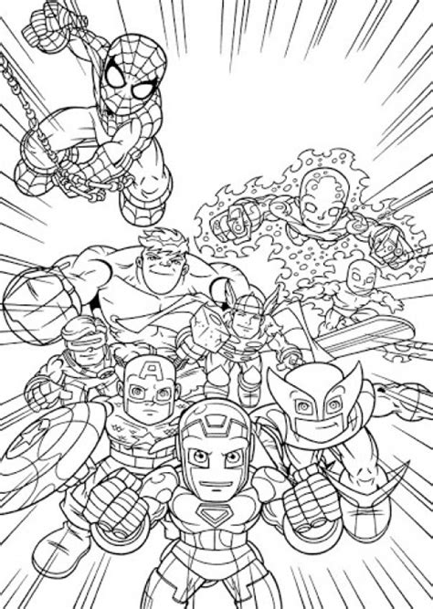 online printable image of super hero squad free for kids