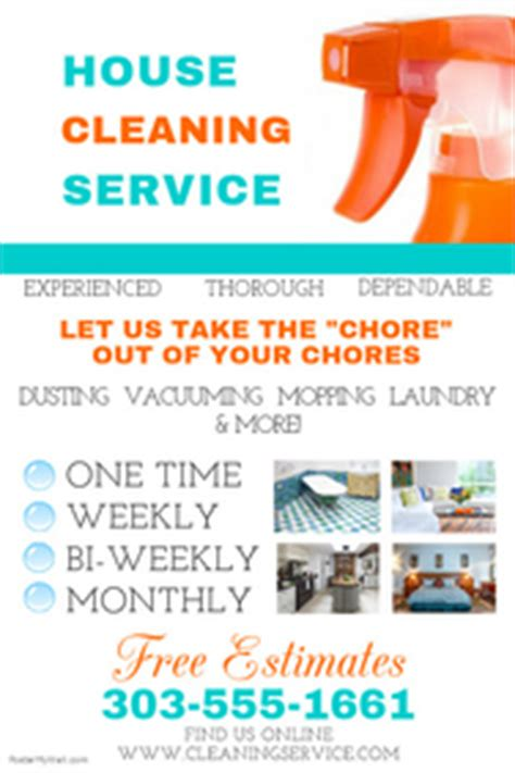 printable house cleaning flyers cleaning service flyer templates postermywall
