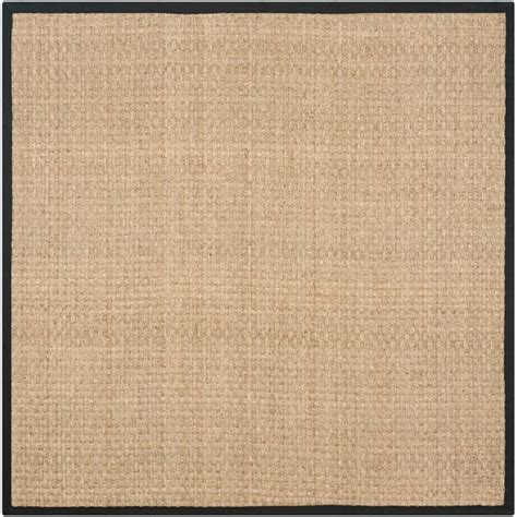 square sisal rugs safavieh casual fiber woven sisal black seagrass rug 8 square free