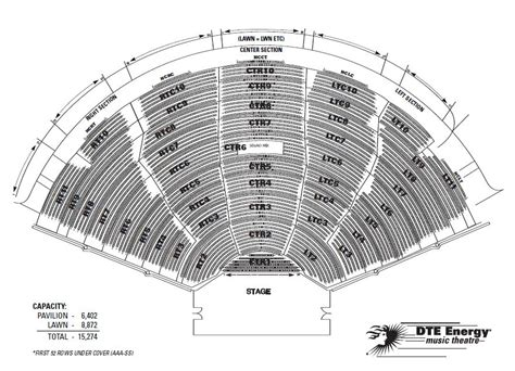 dte energy theatre clarkston mi seating chart