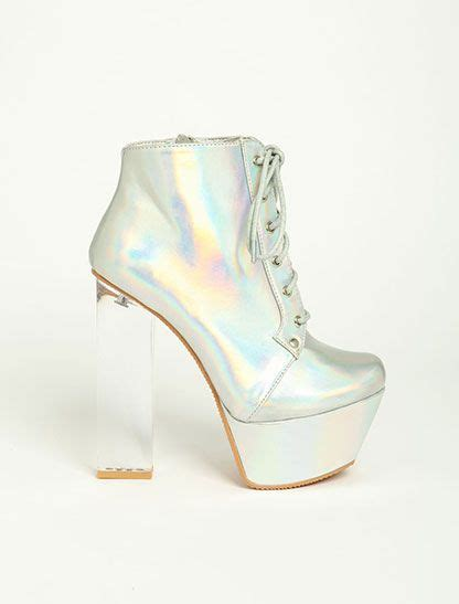 clear heel boots shoess