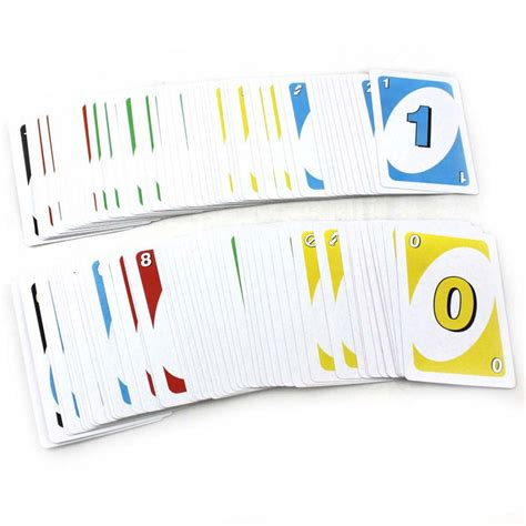 Uno Number uno jenga number card board multi colored
