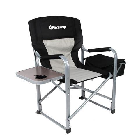 directors chair with side table and cooler kingc heavy duty steel folding chair directors chair