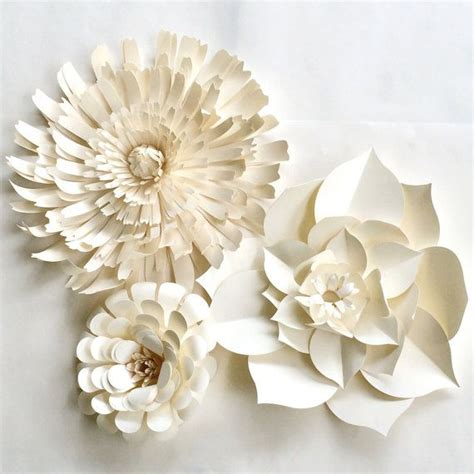 paper flower wall ready to ship white paper flower