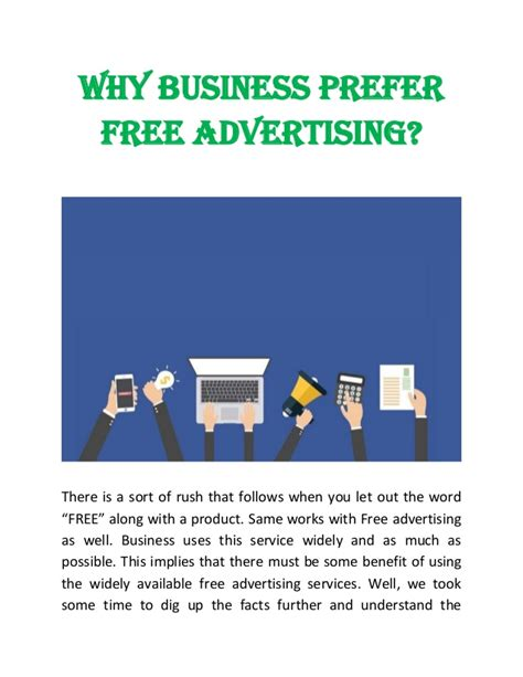 why business invest time in free advertising