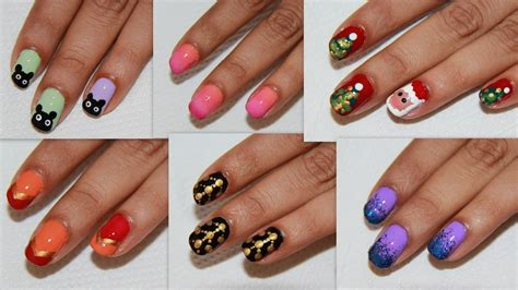 easy nail art on dailymotion 6 easy nail art for beginners diy nail design youtube