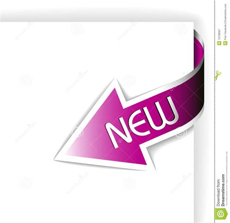 The New Of Pinko by New Pink Corner Ribbon Arrow Stock Vector Illustration