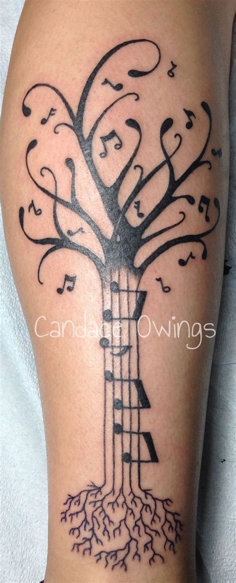 pinterest tattoo music really fun tattoo i did of a music tree with music notes