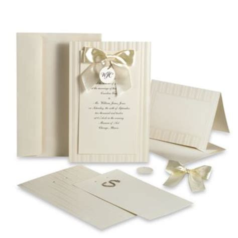 bed bath and beyond wedding invitations buy ivory wedding invitations from bed bath beyond