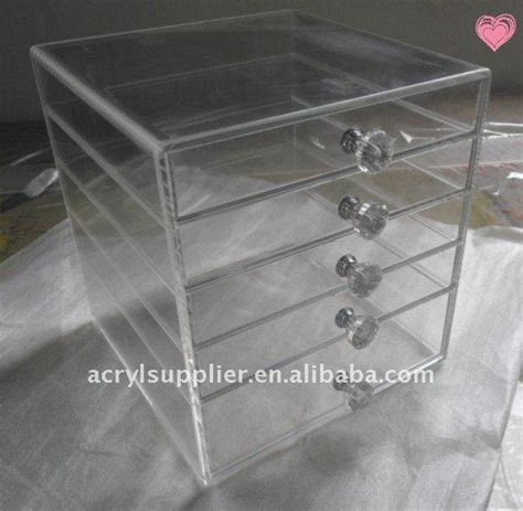Clear Drawers For Makeup by Acrylic Makeup Organizer Clear Cosmetic Cases With
