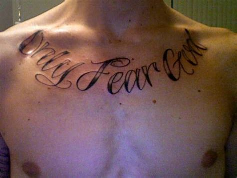 fear god tattoo no fear quotes quotesgram