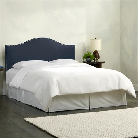 linen headboard king linen navy california king nail button headboard 914nb
