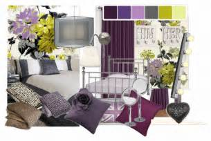 Purple And Green Home Decor Black Grey And Purple Bedrooms Decosee