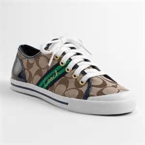 coach tennis shoes coach folly navy blue green brown and white tennis shoe