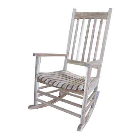 Patio Rocking Chairs Wood Shop International Concepts Unfinished Patio Rocking Chair At Lowes