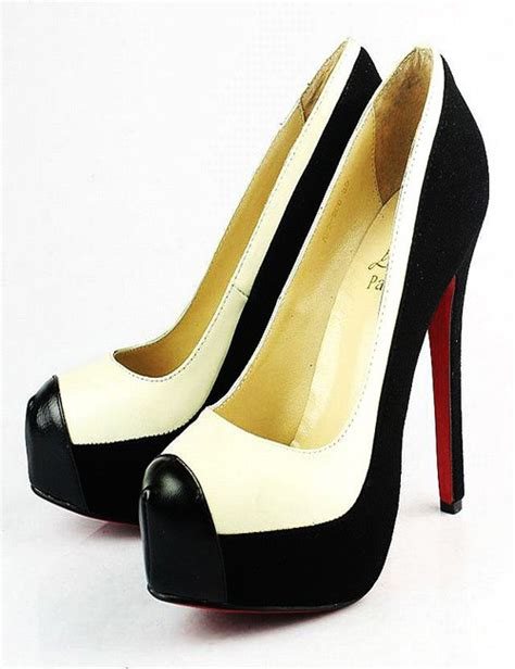 black and white shoes high heels fashionable leather high heel shoes for in black and