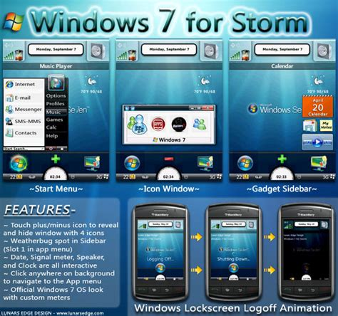 blackberry edge themes windows 7 theme f 252 r den blackberry storm 95xx