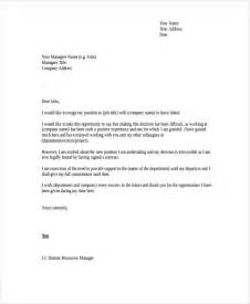 How To Write A Resignation Letter Australia by Resignation Letter Exles Template Design
