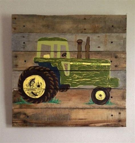 deere room decor tractor green 20x20 painted pallet boys rustic wall tractors farm farmer barn house