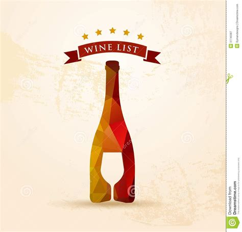 wine list menu royalty free stock photography image