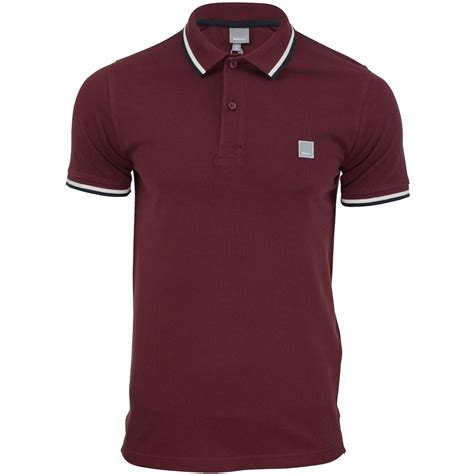 mens pique polo t shirt bench competitor twin tipped