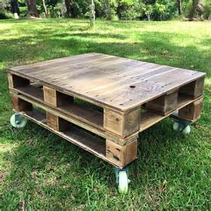 Pallet Coffee Table On Wheels Unique Ideas To Use The Pallet Wood Thinkhom
