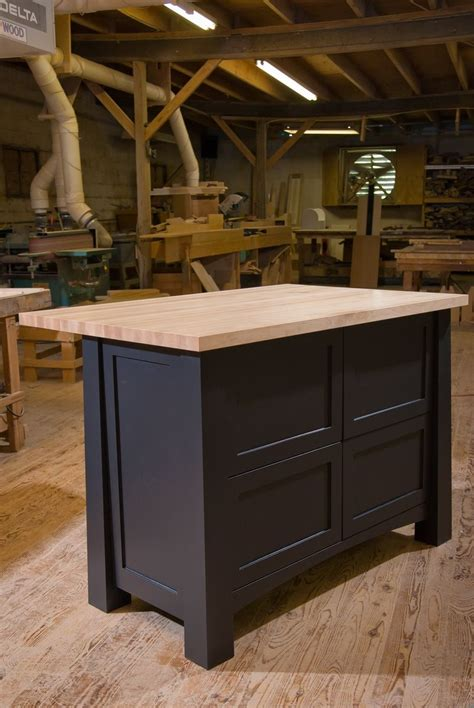 Handmade Kitchen Island - crafted custom kitchen island by against the grain