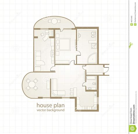 house plan vector house plan vector illustration stock vector image 48375482