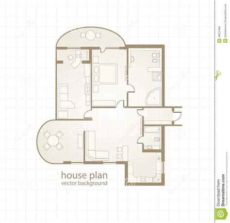 House Plan Vector Illustration Stock Vector Image 48375482 Floor Plans Vector