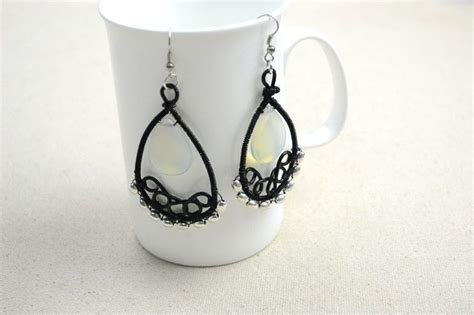 How To Make Handmade Earrings - handmade jewelry ideas wire wrapped chandelier earrings