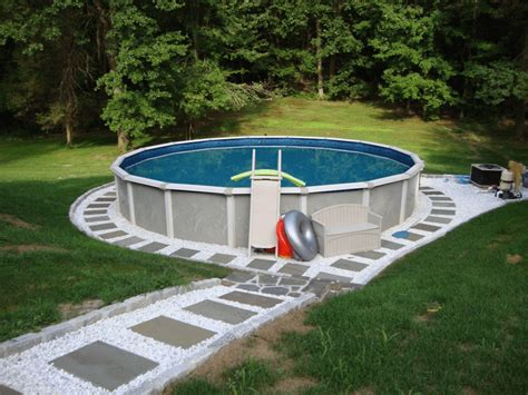 Above Ground Pool Backyard Ideas by Backyard Landscaping Ideas With Above Ground Pool Http
