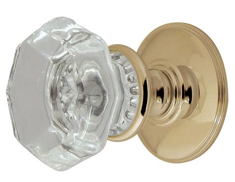 Glass Flower Octagonal Mortice Door Knobs 54mm Octagonal Glass Door Knobs