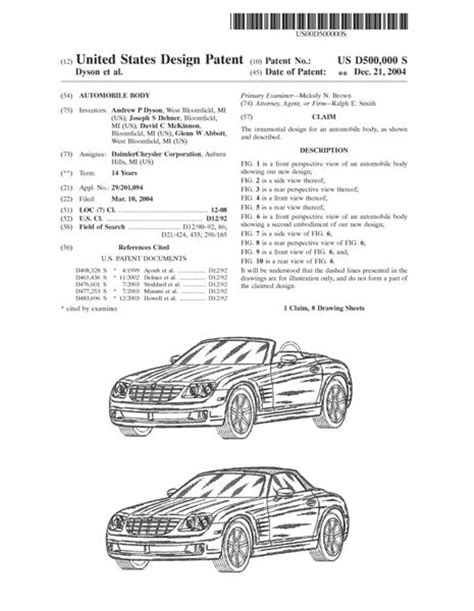 patent specification template design patent application patent to protect the design