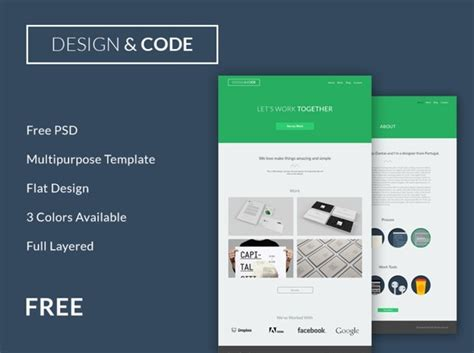 website layout design code free flat and responsive code design website template