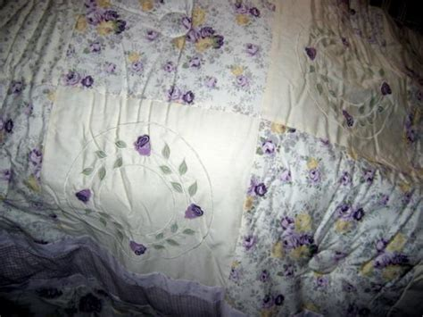 lavender shabby chic bedding lavender roses armoire nip shabby to chic 3 pc
