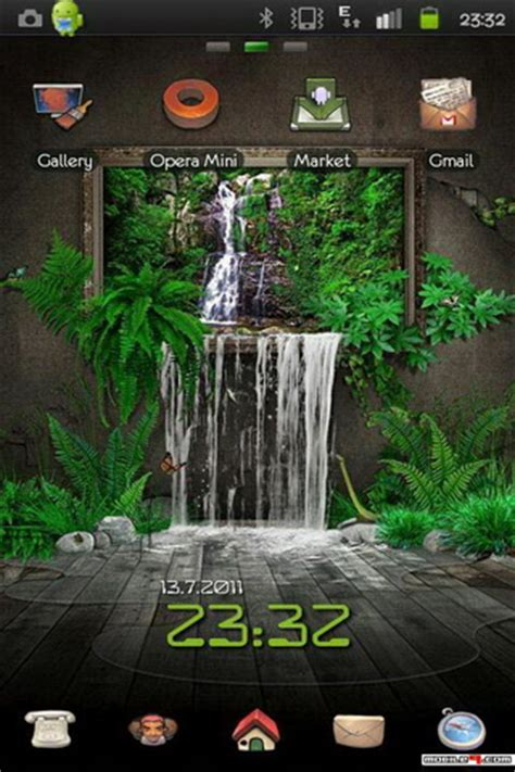 3d themes for android 3d waterfall theme android themes android mobile wallpapers apps free