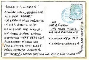 Postkarten Schreiben Muster Die Urlaubskarte Cafe