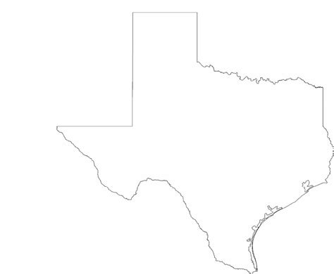 texas state outline map texas state outline map free